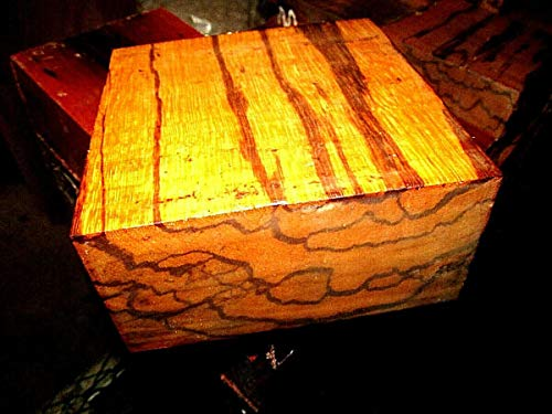 "Van Nimwegen ONE BEAUTIFUL EXOTIC MARBLEWOOD BOWL BLANK LATHE LUMBER WOOD 6 X 6 X 3"" Van Nimwegen"