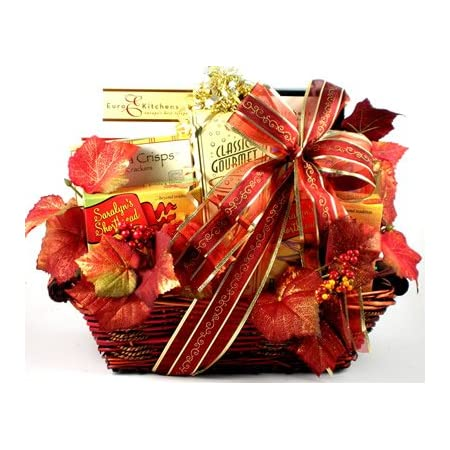 Gift Basket Village - Deluxe Fall Collection, Large Fall Gift Basket with Flavors and Colors of the Season