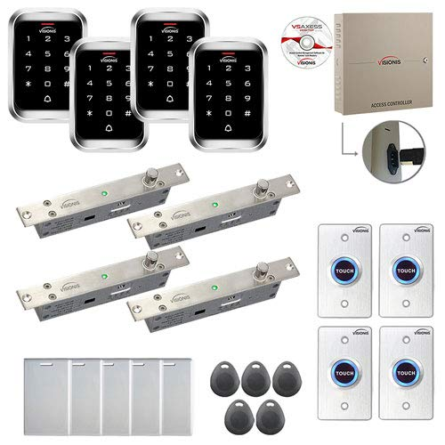 Best Review Of Visionis FPC-7993 4 Door Professional Access Control Electric Drop Bolt Fail Secure T...