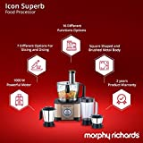 Morphy Richards Icon Superb 1000-Watt Food Processor (Glazing Copper and Black)