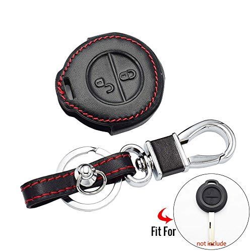 LILIGAUN Leder Auto Schlüsseletui, Für Mitsubishi Colt Warior Carisma Spacestar Remote Fob Shell Abdeckung Schlüsselbeutel Schlüsselbund Zubehör Schlüsseletui für Auto