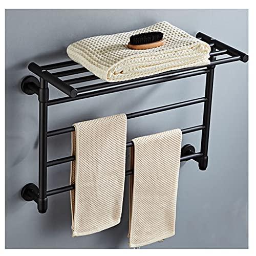 YOGANHJAT Toallero eléctrico Pared 4 Bars, Calentador de Toallas eléctrico para baño 45W Radiador toallero de baño Calefacción Toallas...