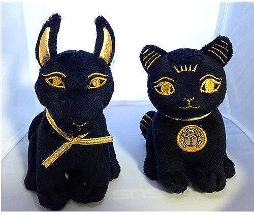 Venta barata Bundle acuerdo. Peluche. Plush gato gato gato negro y dorado & Anubis, egipcio. SO Cute. Por Bundle de Alegría  ¡envío gratis!