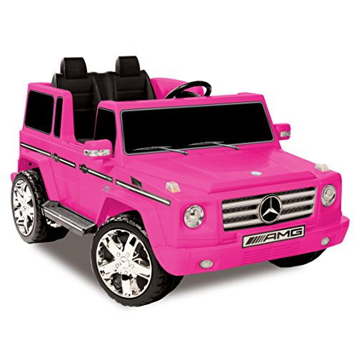 Mercedes Kid Motorz Benz G55 AMG 12 V Electric Ride On Two Seater in Pink with Sound, Lights, Battery Power Indicator & Rear Suspension Battery Powered Riding Toy Ride On