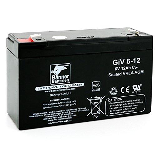 Banner Batterie Stand by Bull 6 Volt 12Ah Typ GiV 06-12 Akku Notstrombatterie Brandmeldeanlage Alarmanlage