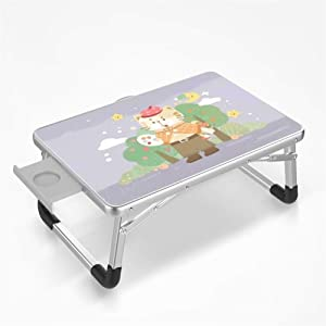 Folding Laptop Table  Portable Multifunctional Lightweight Bed Serving Tray Desk Notebook Hand Stand Reading Holder For Couch  Color
