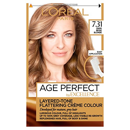 L'Oreal Excellence Age Perfect 7.31 Dark Caramel Blonde Hair D