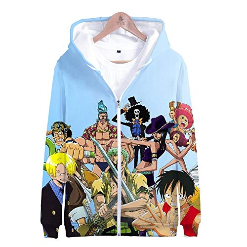 LHHJ Kapuzenpullover Unisex HD 3D Drucken one Pieces Hoodie Sweatshirt Pullover Langarm Slim Fit Training Hochwertige Pulli Sweat Hood Innen ist kuschelig weich Flexibel Lose Anime