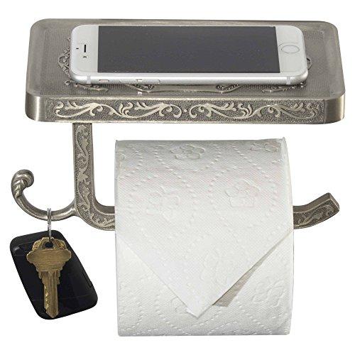 Top 10 best selling list for toilet paper holder brushed nickel reversable