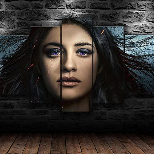 Poster 5 Pezzi Serie Tv Di Yennefer Witcher 5 Pezzi Di Tela,5 Pannelli Wall Art Poster,Moderno Canvas,5 Parti,5 Pannelli Quadro Su Tela,Quadri Moderni Stampa Di Immagini,Decorazioni Casa 150X80Cm