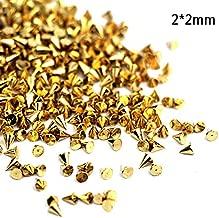 20Pcs/Lot Black Gold Silver Metal Alloy Cone Bullet Head Spike Studs Rivet Salon 3D Nail Tips Nail Art Tip Rivets Studs 1