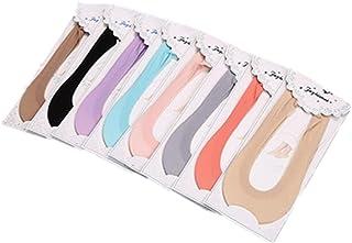 (リアルスタイル) Real Style レディース フットカバー ソックス 靴下 滑り止め付き 脱げない女性用靴下 8足セット 選べる8カラー