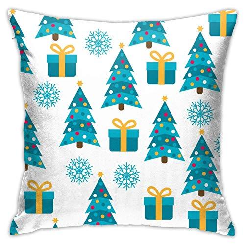 JONINOT Doble Cojines Fundas 18' Árbol de Navidad Funda de Almohada Suave para la Piel