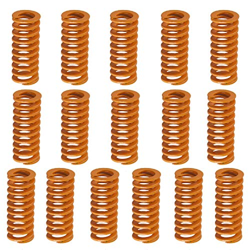 SIQUK 16 Pieces Heated Bed Springs OD 0.31 Length 0.78 Die Springs Light Load Compression Spring for 3D Printer Creality CR-10 10S S4 Ender 3 Heatbed Springs Bottom Connect Leveling