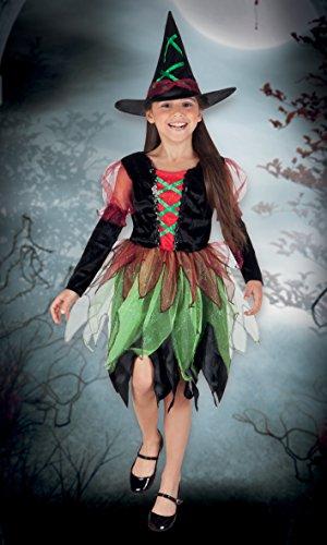 Boland- Costume Bambina Streghetta Fairy Witch, Verde/Nero, 10-12 anni, 78041