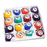 LIOOBO llaveros de billar mini llavero de bola regalo de decoración de llavero creativo para niños adultos 16 piezas (color aleatorio)