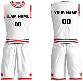 Front & Back Personalized Basketball Jersey Set Team Uniform Round Neck