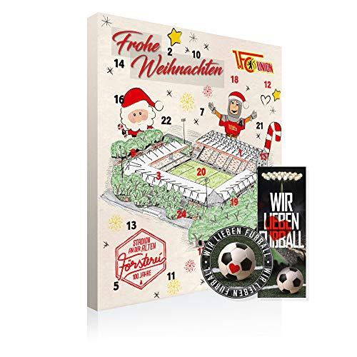 Adventskalender, Weihnachtskalender deines Bundesliga Lieblingsvereins - Plus gratis Sticker & Lesezeichen Wir Lieben Fußball (1. FC Union Berlin Premium)