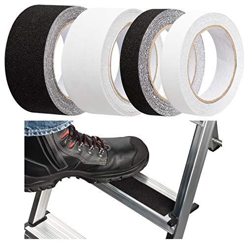 10Meter Antirutschband Selbstklebend – für Stiege Treppe Gerüst Leiter - Aussen & Innen - 25mm oder 50mm breit – Transparent oder Schwarz (10Meter x 25mm Schwarz)