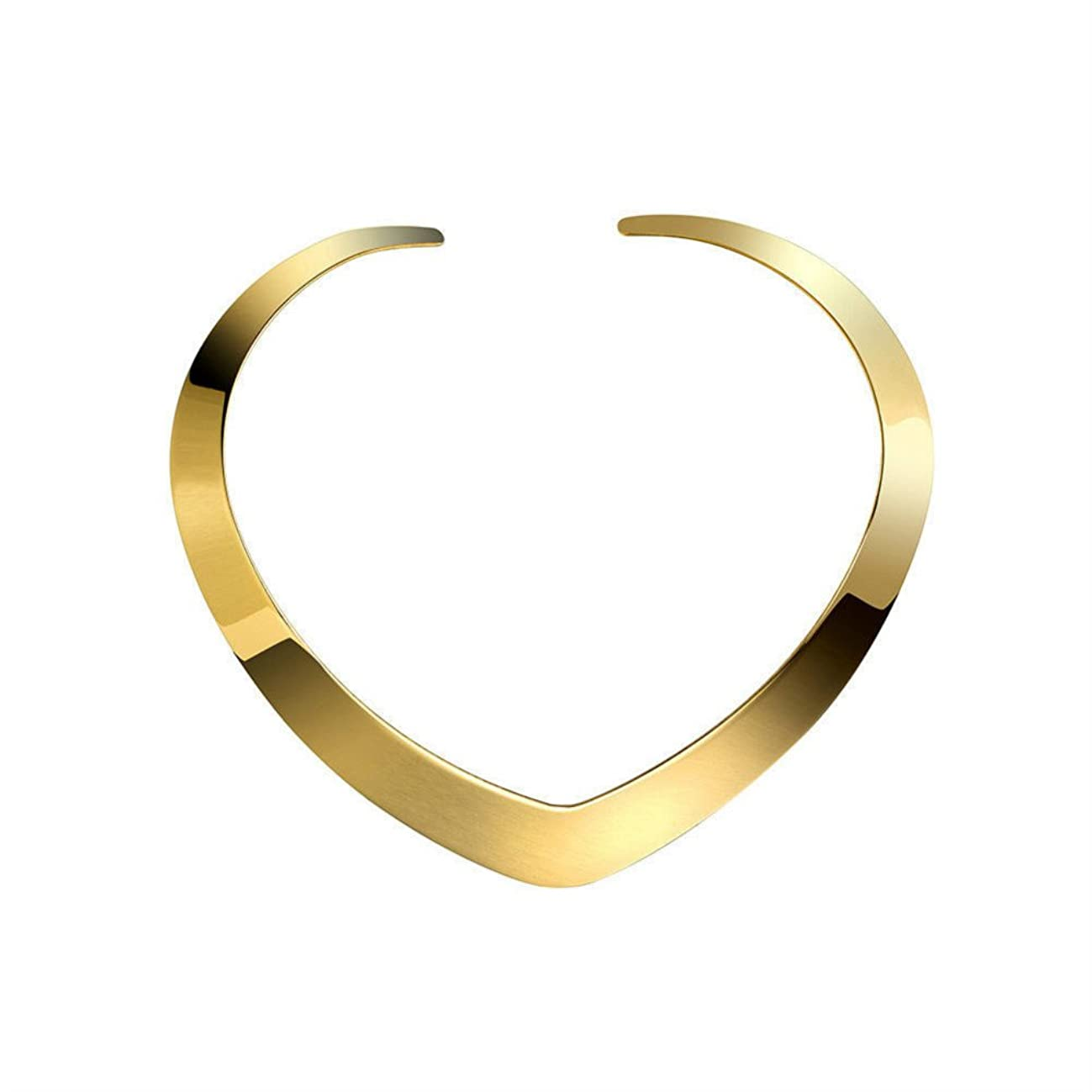 High Polished Stainless Steel Necklace Love Choker Heart Shape Women Statement Jewelry