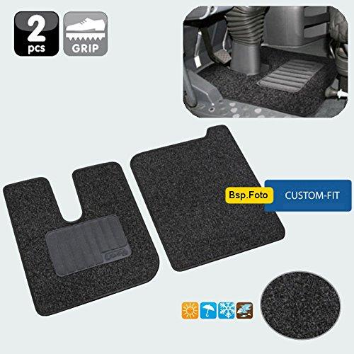 AutoScheich® LKW Fussmatte Fussmatten Satz Innenraum Teppich 2er-Set für Actros MP4 MP5