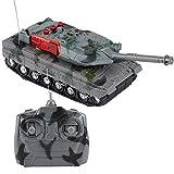 Tanque RC Tanque de Juguete Control Remoto por Radio Panzer Vehículo blindado Niños Juguetes electrónicos para niños Regalos para niños