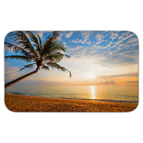 Fußmatte aus Flanell mit Meereslandschaft und Horizont, rutschfeste Bodenmatte, für den Innen- und Außenbereich, Schlafzimmer und Badezimmer, 45,7 x 76,2 cm