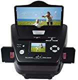 DIGITNOW All-in-One High Resolution 16MP Film Scanner, with 2.4' LCD Screen Converts 35mm/135slides&Negatives Film Scanner Photo, Name Card (Black)