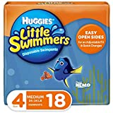 Huggies Little Swimmers Disposable Swim Diapers, Swimpants, Size 4 Medium (24-34 lb.), 18