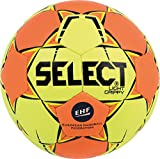 SELECT Light Grippy Balón de Balonmano, Infantil, Amarillo/Naranja, 00