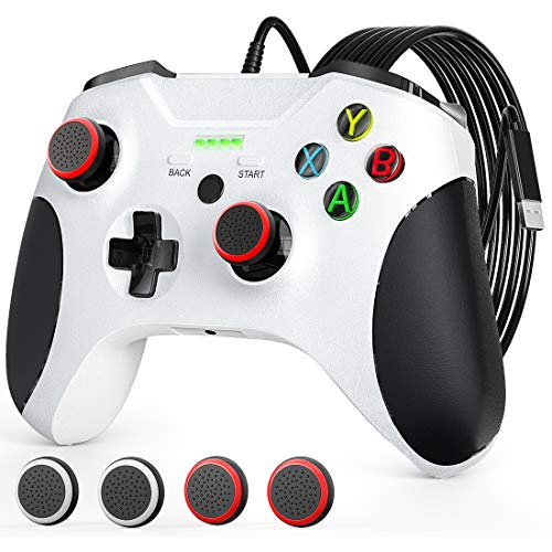 Controller für Xbox One, JORREP USB Kabelgebundener Controller für Xbox Series S/X, Xbox One, PC Windows 7/8/10, Wired Gamepad Pro mit Audio-Buchse, Dual Vibration
