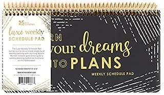 Erin Condren Luxe Weekly Schedule Pad 10x5 - Undated