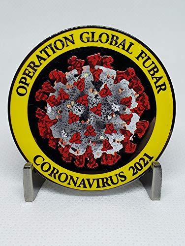 2021 Operation Global FUBAR covid Challenge Coin - Essential Worker Cluster Enduring Clusterfuck coronavirus