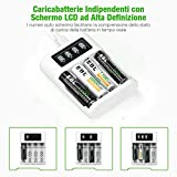 Zoom IMG-1 ebl 4 slot caricabatterie indipendente