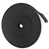 Weather Stripping Door Seal Strip Foam Insulation Tape Self Adhesive Soundproof Foam Insulating Strip for Door, Windows, Air Conditioning, HVAC, Cooling. (W:4/5In x T: 1/3In x L: 16Ft)