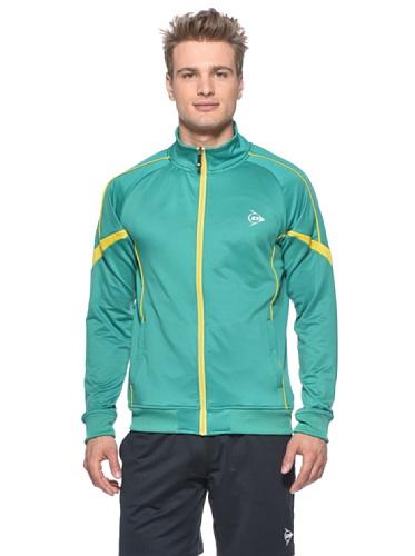 Dunlop Bekleidung Men–Knitted Jacket XL Verde/Giallo