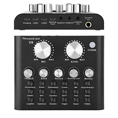 Hakeeta Voice Transformer, Voice Changer Device, 112 elektroakustische Arten, 8 So&effekte, für Mobilcomputer, Mehrere Lautstärkeregler, Mehrere Verbindungsoptionen, Bluetooth-Funktion, Schwarz