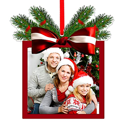 SICOHOME Picture Frame Christmas Ornaments 2021,3.2