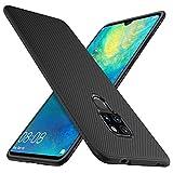 iBetter Huawei Mate 20 Hülle, [Schwarz Soft Hülle] Ultra Thin Silikon Schutzhülle Tasche Soft TPU Hüllen Handyhülle für Huawei Mate 20 Smartphone