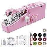 geyueya home mini machine à coudre, machine à coudre portative outil de point rapide manuelle pour vêtement, rideau, voyage, diy