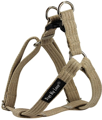 Cotton Web Adjustable Dog Step-in Harness 4 Sizes Beige (Small: 8