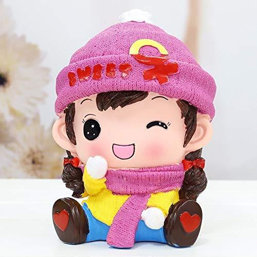 HJSGXXN Niño Personalidad Hucha Creativo Moda Lindo Caricatura Anti-caída Hucha Regalo De Cumpleaños (Color : Pink)