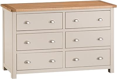 LITEBUF Sideboard 110x33.5x70 cm Solid Oak Wood