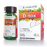 Avalife Liv D-tox - Ultimate Liver Cleanse & Detox Formula for Men & Women - Gluten Free, Vegan & Non-GMO - 60 Capsules
