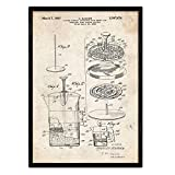 Nacnic Poster Patent Kaffee 3. Folie mit Alten