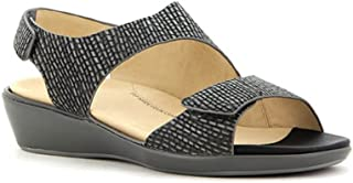 Ziera Ginger Charcoal Women's Sandal Wedges - Size 37