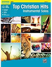Top Christian Hits Instrumental Solos for Strings: Violin, Book & CD: Violin, Book & Online Audio/Software/PDF