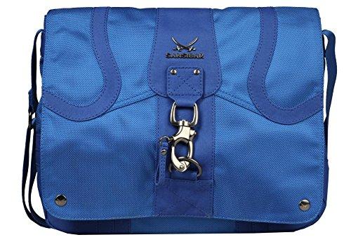 Sansibar Cyclone Messenger Überschlagtasche Damentasche blau