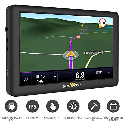 Gps Voiture 5 Pouces Gps Auto Europe Voiture 8GB HD Afficher avec Instructions Vocales PréinStallé...