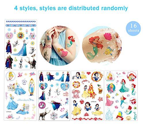 Tatuaggi Temporanei per Bambini Tatuaggio Bambino Temporaneo 16 Sheet 400+ Pcs Tatuaggi Bambina Finti Temporanei Adesivi per Ragazze Impermeabile Fest